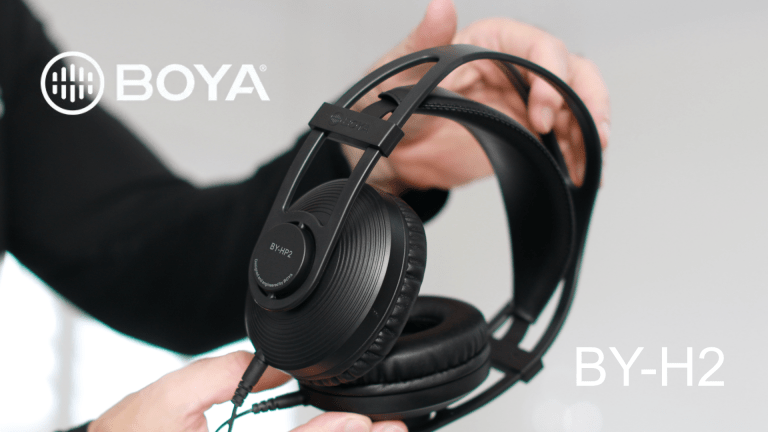 Master your audio like a pro with the Boya HP2 Monitor Headphones