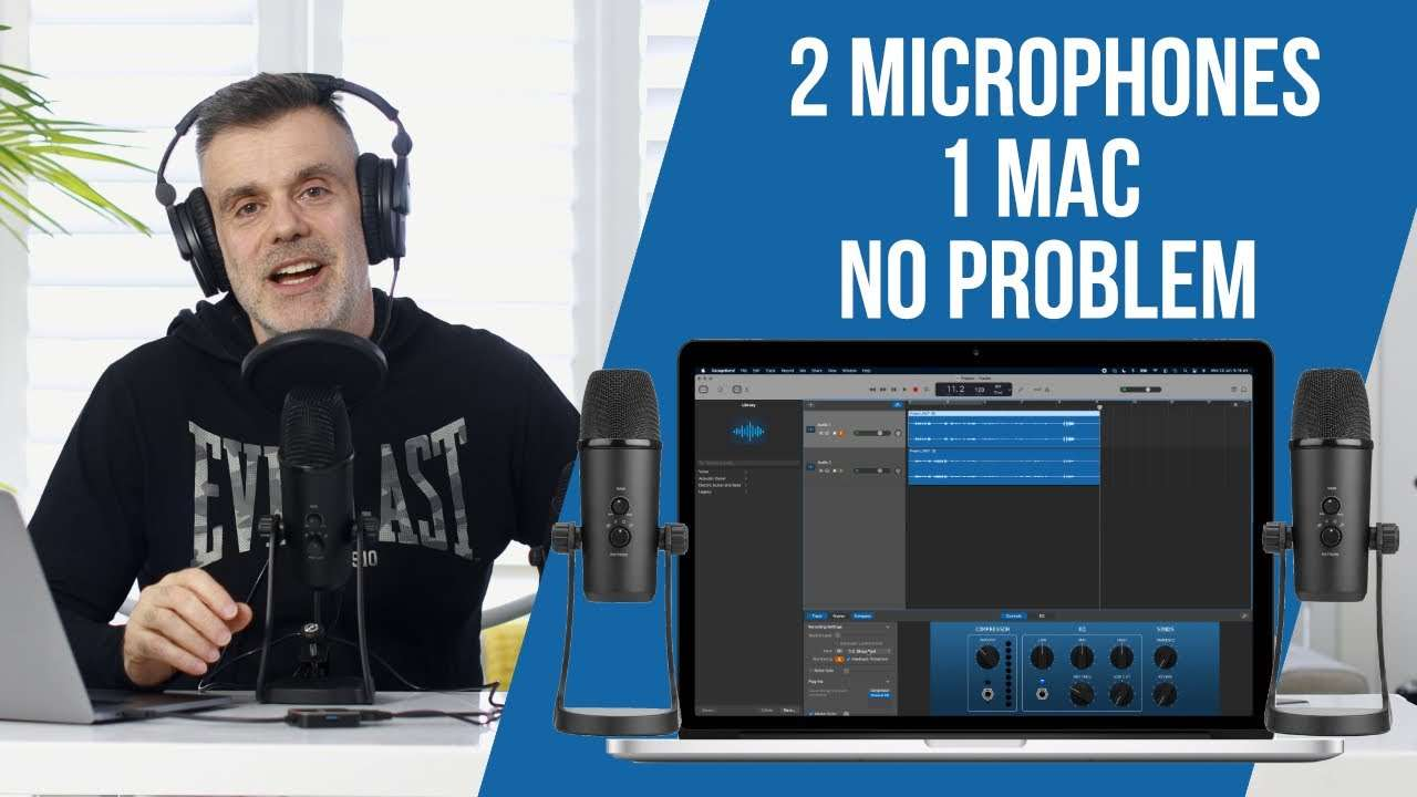 How to connect two USB microphones into 1 mac?