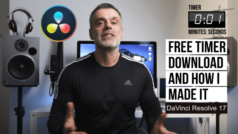 Read more about the article Free on Screen Timer to use on your video projects plus How I made it tutorial for Davinci Resolve
